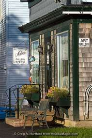 Art Gallery in Winter Harbor, Maine