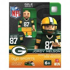 Jordy Nelson OYO NFL Green Bay Packers Series 2 Mini Figure Limited Edition National Footbal League Generation Two Limited Edition OYO minifigure! Green Bay Packers, Nfl Green Bay, Aaron Rodgers, Alfred Morris, Robert Griffin Iii, Desean Jackson, Larry Fitzgerald, Sports Games For Kids, Figurine