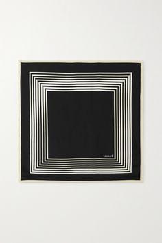 Black Silk, Branding Design, Stripes, Cursive, Scarves, Shoulder Bag, Lettering, Cream, Woman