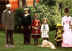Alexander with George, Xeina, Michael, Olga, and Maria 1950s Outfits, Grand Duke, Imperial Russia, My Princess, Military History, Emperor, Royals, Families, Hairstyles