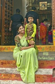 Fashion Kids Boy Daughters Ideas For 2019 Mom And Son Outfits, Mom And Baby Dresses, Mother Daughter Dresses Matching, Baby Boy Dress, Family Outfits, Kids Outfits, Kids Wear Boys, Kalamkari Dresses, Kids Ethnic Wear