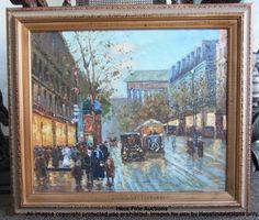 Beautiful Signed Ensor Paris Street Scene School of Ecole de Original Painting
