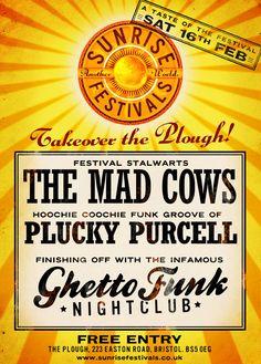 Sunrise Festival Takeover The Plough Inn in Bristol - 16th Feb & Free Entrance