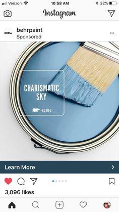 Love this colour! Behr Paint Colors, Paint Colors For Home, Wall Colors, Wabi Sabi, Paint Schemes, Color Schemes, Color Combinations, Bedroom Colour Palette, Farm House Colors