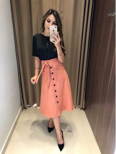 Swans Style is the top online fashion store for women. Shop sexy club dresses, jeans, shoes, bodysuits, skirts and more. Modest Wear, Modest Outfits, Skirt Outfits, Dress Skirt, Dress Up, Cute Fashion, Modest Fashion, Fashion Dresses, Fashion Looks