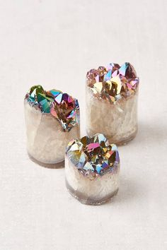 Rainbow Aura Quartz Crystal Sculpture | Urban Outfitters