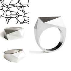Simple Geometry Ring, Susan Snyder Jewelry, Modern Jewelry
