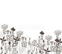 Stalks black background