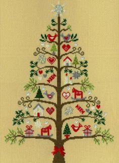 Scandi Tree by Bothy Threads, counted cross stitch kit