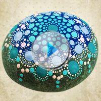 Como pintar Mandala en Piedra   Dominando Pinceladas