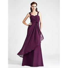 Bridesmaid Dress Floor Length Chiffon A Line Sweetheart Dress  – USD $ 64.99