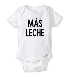 0dc40f11c Mas Leche Onesie, Funny, Milk Onesie, Funny Baby Clothes, Beer Onesie,  Unisex Baby, Funny Baby Shower Gift, Drinking Buddy Onesie, Spanish