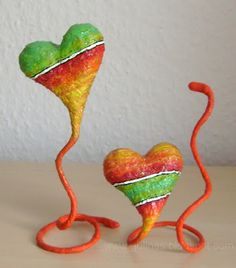 I want to do this and this the kids would love to do them too!! Gulnas' Art Blog: The heart. Papier mache.