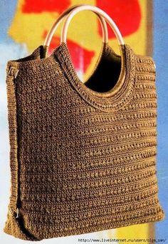Irish crochet &: Простая и удобная сумка