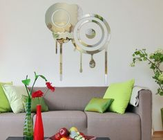 Interior Design Idea Using Wall Mirror Stickers ~ HOME INSPIRATIONS