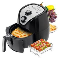Secura 1500 Watt Large Capacity QT, Electric Hot Air Fryer and additional accessories; Recipes,BBQ rack and Skewers: Kitchen & Dining Nutribullet, Best Rated Air Fryer, Baking Appliances, Kitchen Appliances, Kitchen Gadgets, Small Appliances, Kitchen Tools, Kitchen Ideas, Chefs
