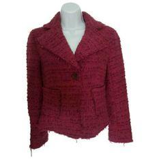 Zara Fuchsia Tweed Jacket