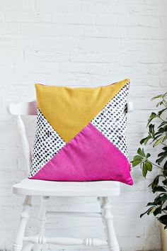 DIY | Color Block Print Cushion Cover