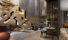 Lobby in the Puro Hotel, Gdansk, Poland