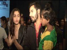 Alia Bhatt and Varun Dhawan at the special screening of HUMPTY SHARMA KI DULHANIA for kids.