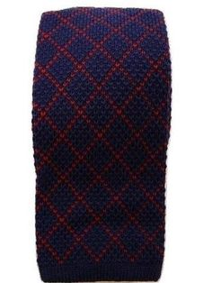 d24027b600ca Blue red knitted wool tie Second Hand Designer Clothes, Wool Tie, Suit  Accessories,