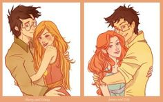 Harry~Ginny and James and Lily