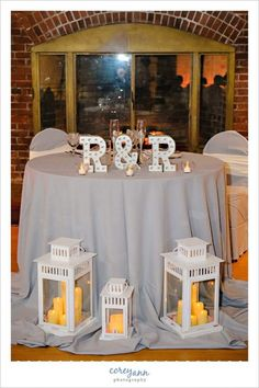 Sweetheart table in grey at @stanhywet wedding reception