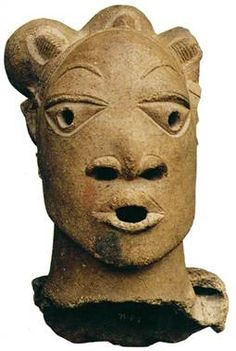 500 B.C.-300 A.D.  Nok sculpture showing African hairstyle.