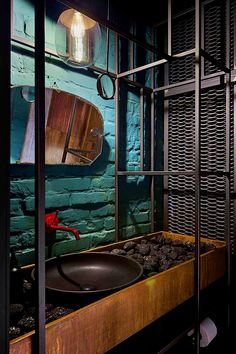 "Garage Design Gallery ""Shadows And Shades"" - Picture gallery Garage Design Gallery ""Shadows And Shades"" - Picture gallery Wc Design, Toilet Design, Garage Design, Cafe Design, Design Styles, Industrial Interior Design, Bar Interior, Restaurant Interior Design, Bathroom Interior Design"