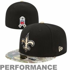 New Era New Orleans Saints Salute To Service On-Field 59FIFTY Fitted Performance Hat - Black