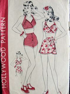 1940's Pin Up Sewing Pattern Hollywood 1341
