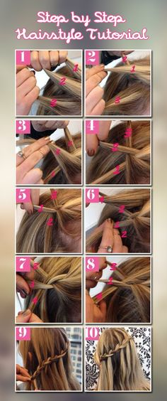 Step by step hair tutorial
