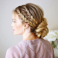 Triple Braided Updo You asked for a tutorial and there's now one up on MissySue.com! ✨ Comment below if you've already seen it + loved it! Direct link in my bio! http://liketk.it/2qbab #liketkit #missysueblog
