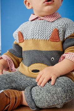 Buy Ginger Fox Knitted Jumper (0mths-2yrs) from the Next UK online shop