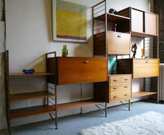 Four Bay Ladderax Shelving System the BEST shelving system EVER - made in England too - shame they no longer make it though