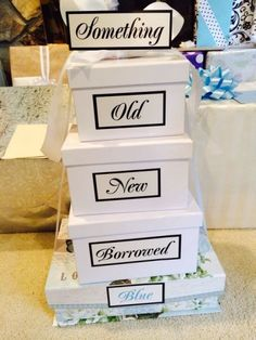 Gift wrapping that embraces wedding tradition.  See more bridal shower gift ideas at www.one-stop-party-ideas.com