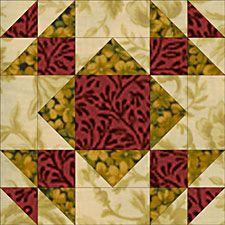 "Free Quilt Block Patterns: Summer Winds Quilt Block Pattern - 24"" & 12"" Options"