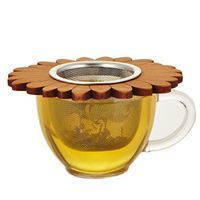 Steep your tea in sustainable style with this handcrafted wooden leaf sourced from ecologically managed forests in Pennsylvania.  http://www.republicoftea.com/wooden-flower-tea-infuser/p/V20262/