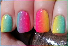 Fox Claws: Rainbow Ombre/Gradient with 3 colors!
