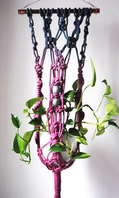 This belongs on my entryway.      Macrame Plant Hanger by SlowDownProductions on Etsy
