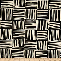Alexander Henry Indochine Kiki Kago Natural/Black from @fabricdotcom From the DeLeon Design Group for Alexander Henry, this cotton print fabric features squares of abstract patterns and is perfect for quilting, apparel and home decor accents. Colors include cream and black.