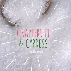 New to EnlightenedLotusByEC on Etsy: Grapefruit & Cypress Bath Soak Bath Salts  All Natural Bath Soak (9.95 USD)