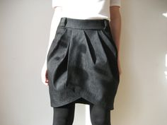 Origami Skirt jeans from GROSSSTADTREKORDER by DaWanda.com