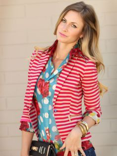 Love the stripes, polka dots and flowers