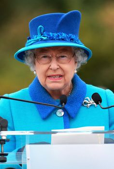 Queen Elizabeth II gives a speech ahead of opening the Borders Railway at Tweedbank Station on September 9, 2015 in Tweedbank, Scotland. Today, Her Majesty Queen Elizabeth II becomes the longest reigning monarch in British history overtaking her great-great grandmother Queen Victoria's record by one day. The Queen has reigned for a total of 63 years and 217 days. Accompanied by her husband, the Duke of Edinburgh and Scotland's First Minister Nicola Sturgeon, she will officially open the new…
