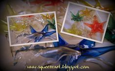 pet stars with plastic bottles - Squeezeart Reuse, Upcycle, Pet Bottle, Plastic Bottles, Terrarium, Recycling, Arts And Crafts, Gift Wrapping, Stars