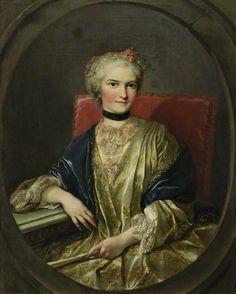 Drouais, Francois-Hubert 1727 Paris - 1775 ebd., zugeschrieben Porträt einer vornehmen Dame mit F
