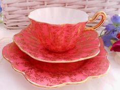 Lovely+Royal+Stuart+Spencer+Stevenson+trio+of+tea+cup+por+ChezElla,+$26,00