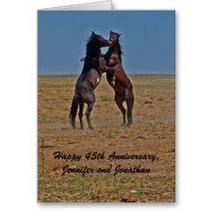 SOLD Happy Anniversary Dancing Horses Click Up Your Heels Card #HappyAnniversary #Horses