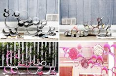 DIY Hanging art-seems a little time consuming though. May be worth it though!